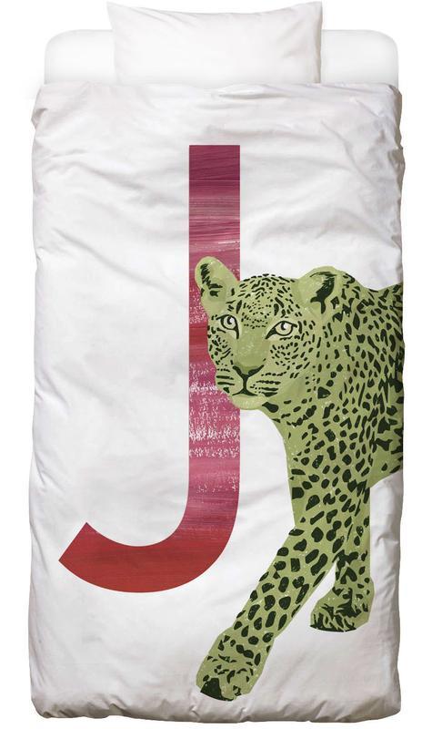 Jaguars, Art pour enfants, J Jaguar Linge de lit