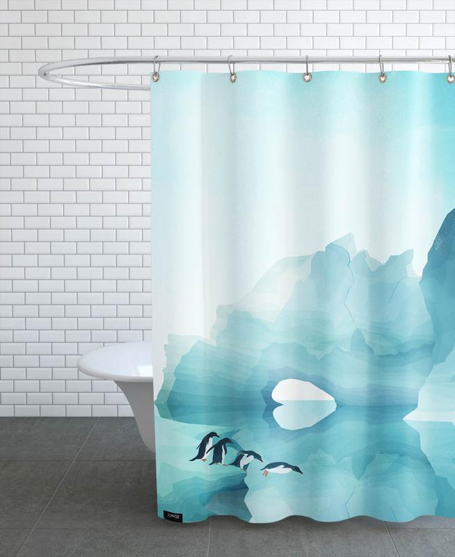Art pour enfants, Pingouins, Penguins by Day rideau de douche