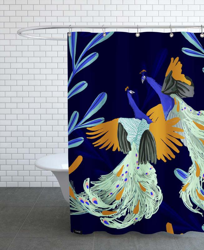 Peacocks, Peacock Dance Shower Curtain