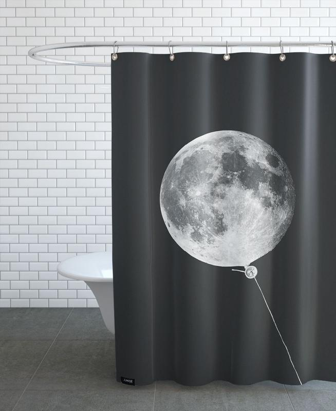 Moon Baloon Shower Curtain
