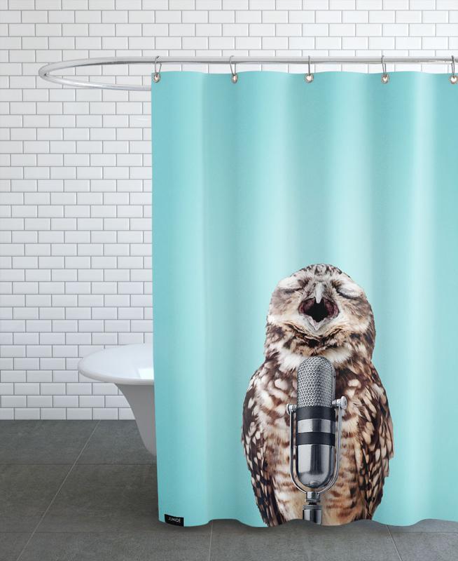 Owls, Birthdays, Funny, Owl Mic Shower Curtain