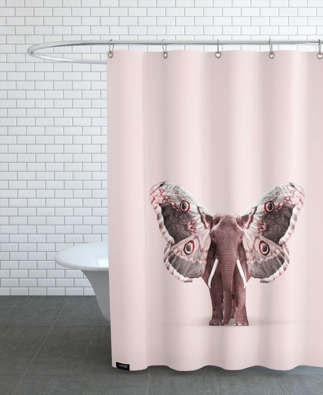 Papillophant Shower Curtain