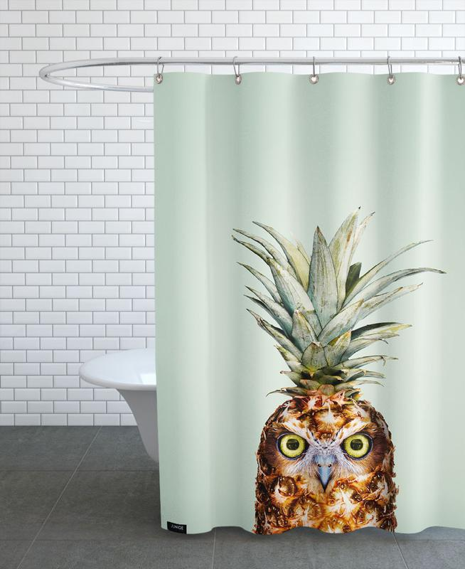 Owls, Funny, Pineapples, Pineapple Owl Shower Curtain