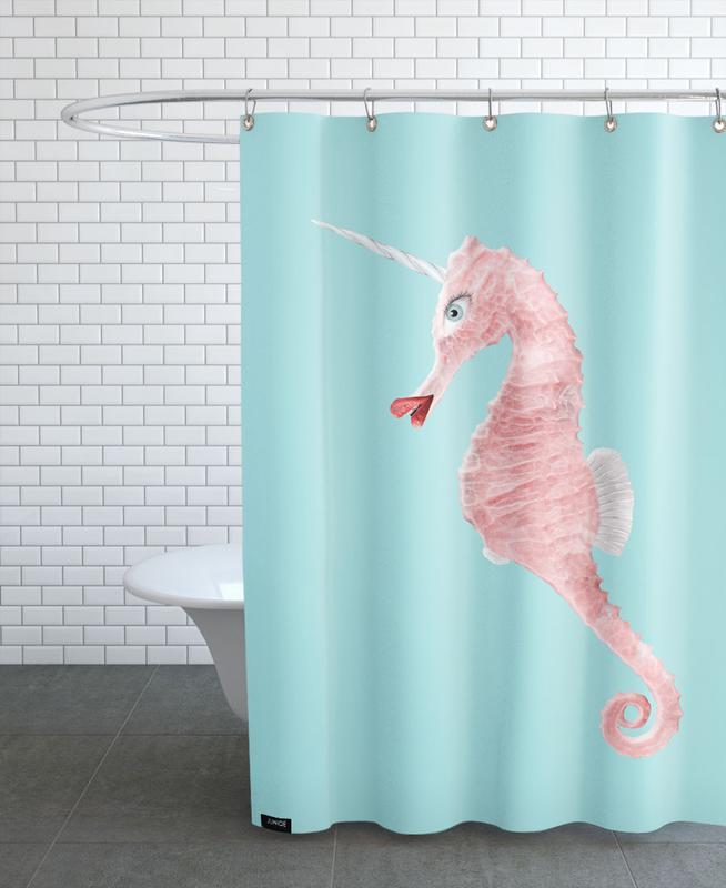 Sea Unicorn Shower Curtain