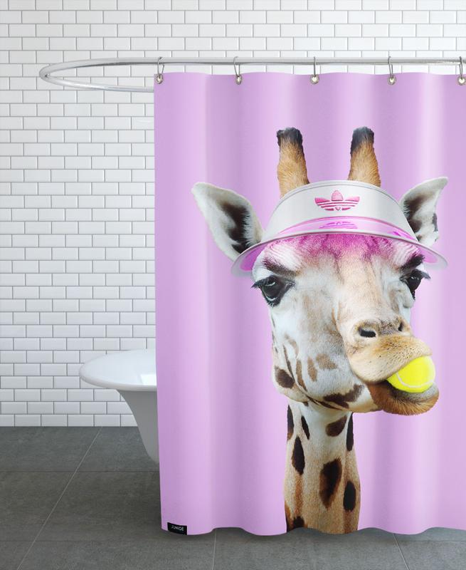 Lustig, Giraffen, Tennis, Tennis Giraffe -Duschvorhang