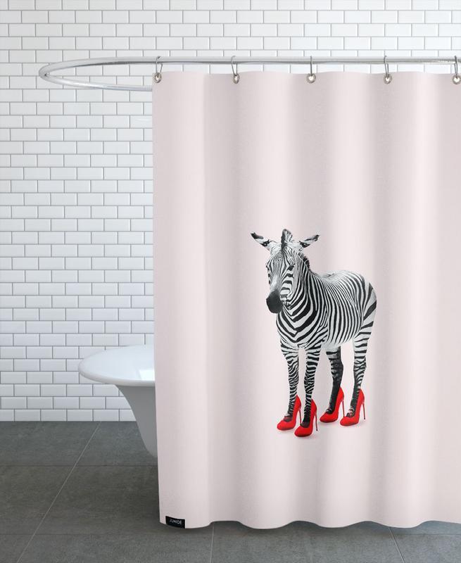 Zebra Heels -Duschvorhang