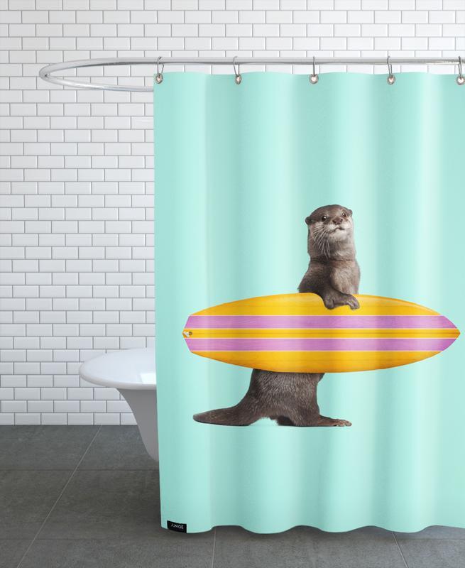 Lustig, Otter, Surfing Otter -Duschvorhang