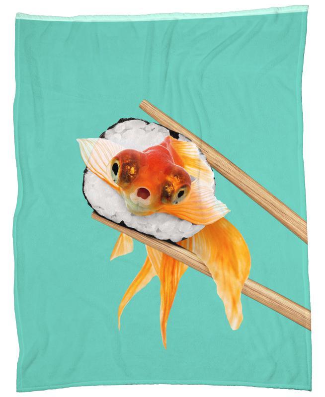 Sushi Goldfish Fleece Blanket