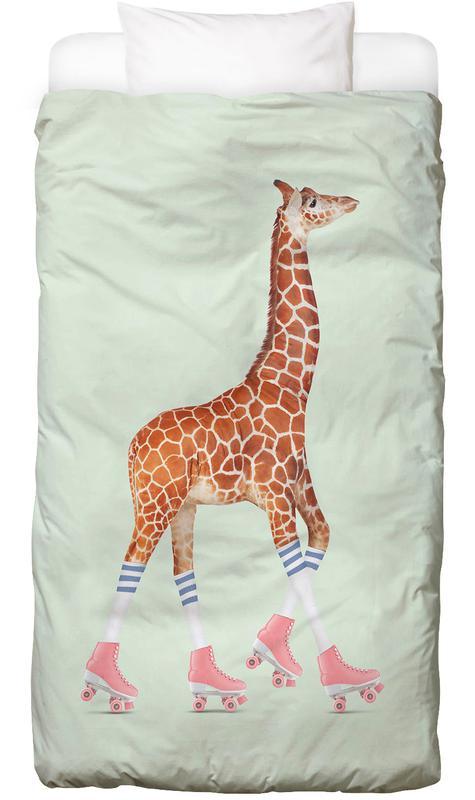 Rollerskating Giraffe Kids' Bedding