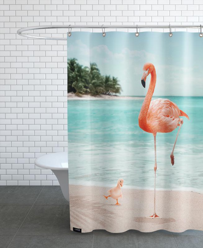 Wannabe Flamingo Shower Curtain