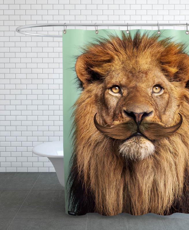 Bearded Lion -Duschvorhang