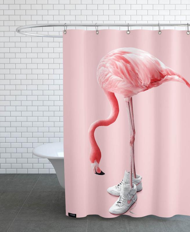 Flamingos, Lustig, Sneaker Flamingo -Duschvorhang