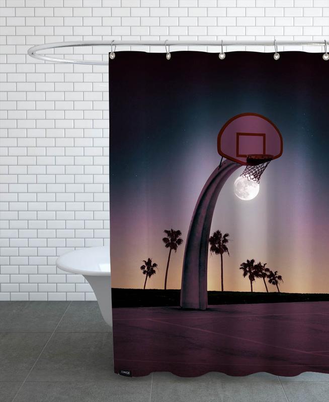 Basketball, Basketmoon Shower Curtain