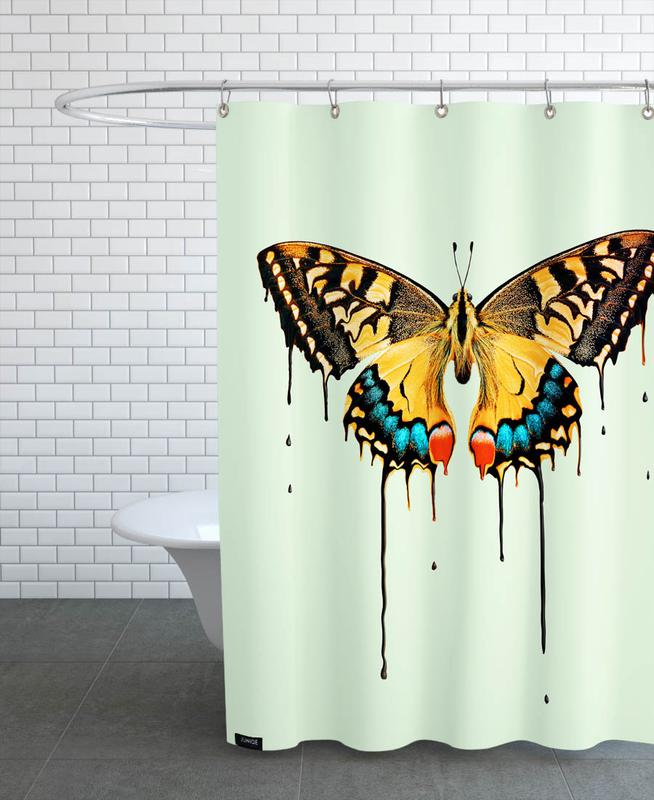 Melting Butterfly Shower Curtain
