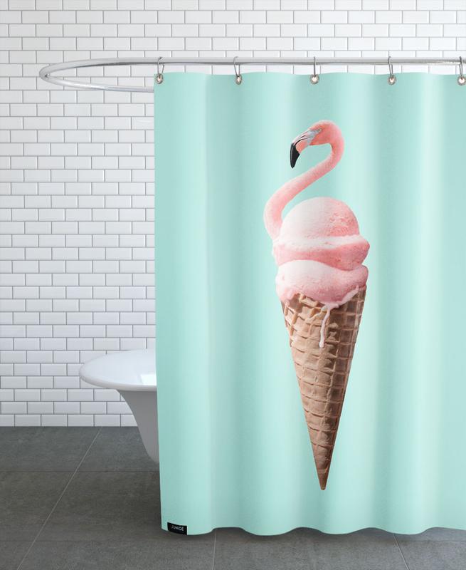 Flamingo Cone -Duschvorhang