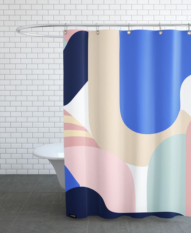 Blue Monday Shower Curtain