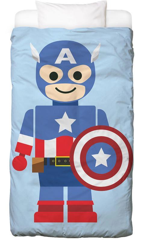 Captain America, Kinderzimmer & Kunst für Kinder, Captain America Toy -Kinderbettwäsche