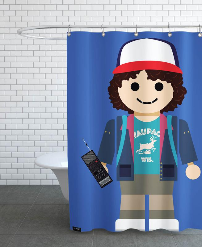 Dustin Toy Shower Curtain