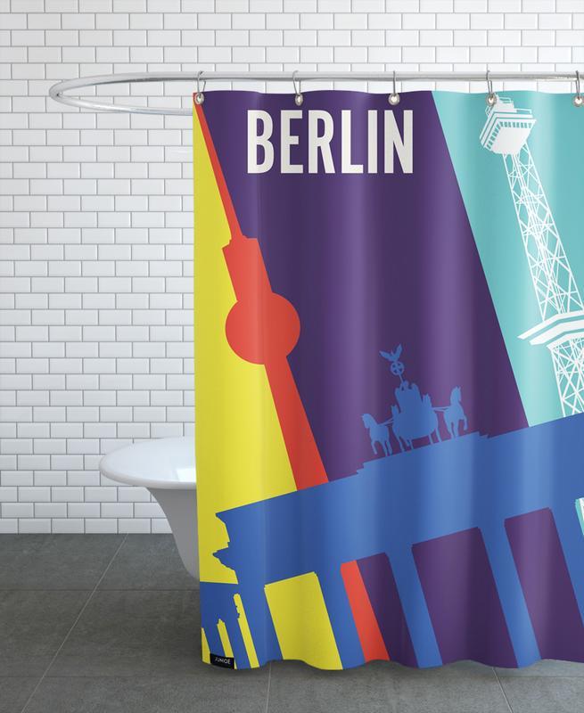 Rétro, Voyages, Berlin, Berlin Icons rideau de douche