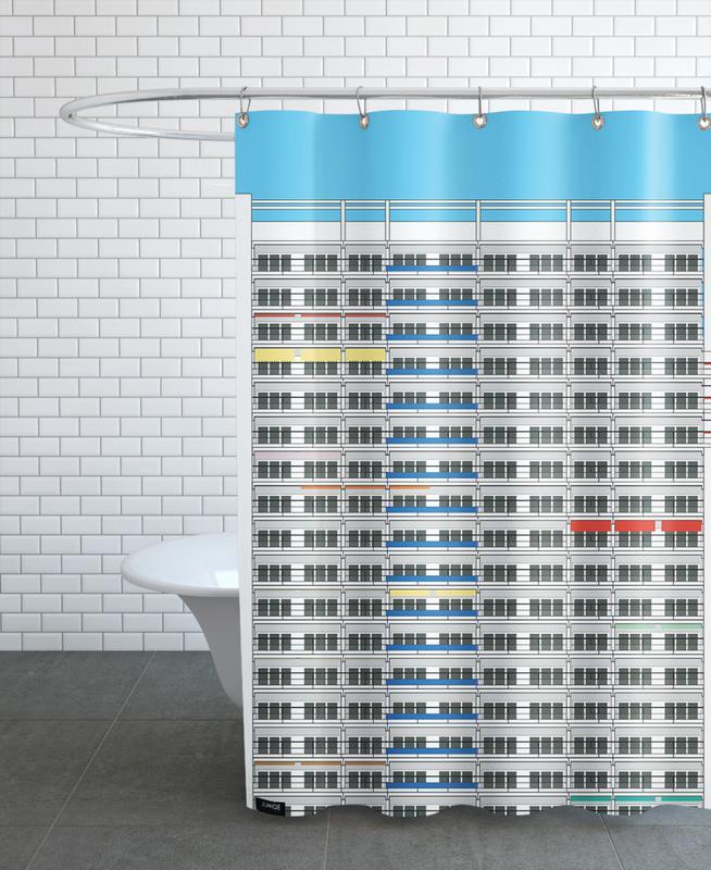 Berlin Plattenbau Shower Curtain