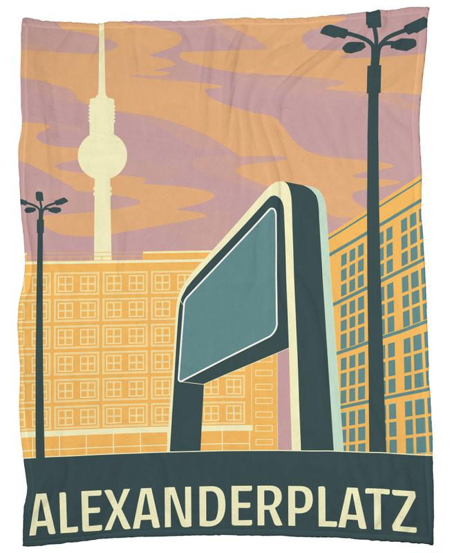 Berlin Alexanderplatz Fleece Blanket