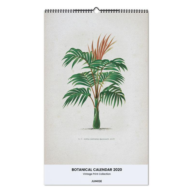 Botanical Calendar 2020 - Vintage Print Collection calendrier mural
