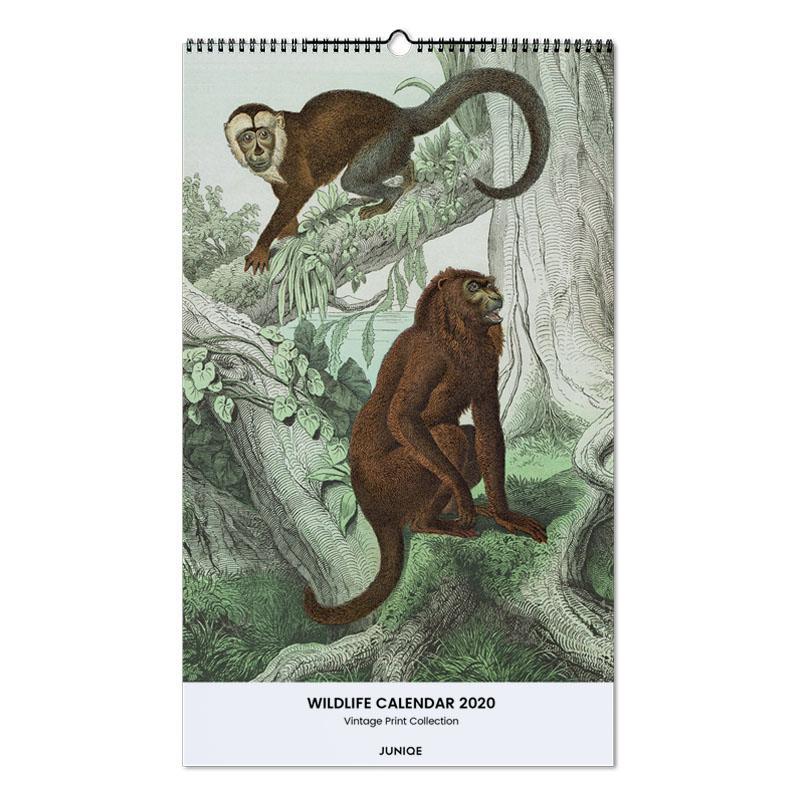 Wildlife Calendar 2020 - Vintage Print Collection calendrier mural