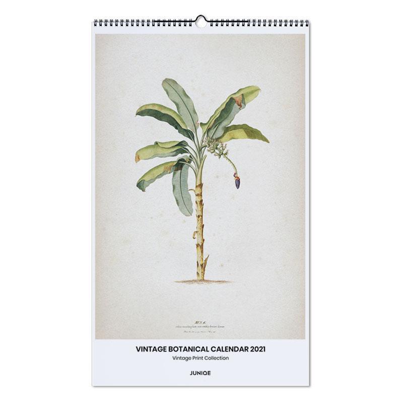 , Vintage Print Collection - Vintage Botanical Calendar 2021 wandkalender