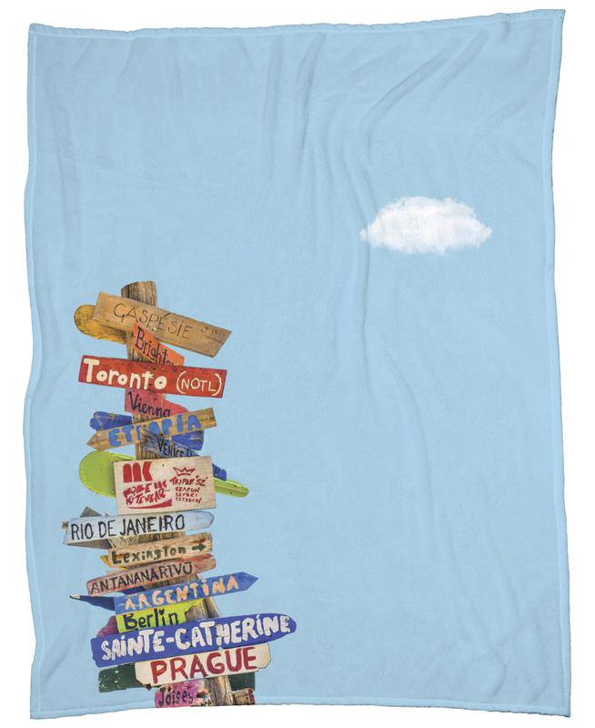 Directions Fleece Blanket