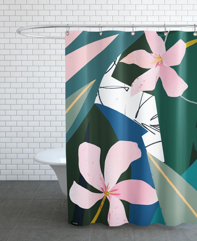 Oleander -Duschvorhang