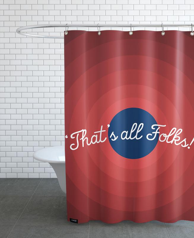 That's All Folks Shower Curtain