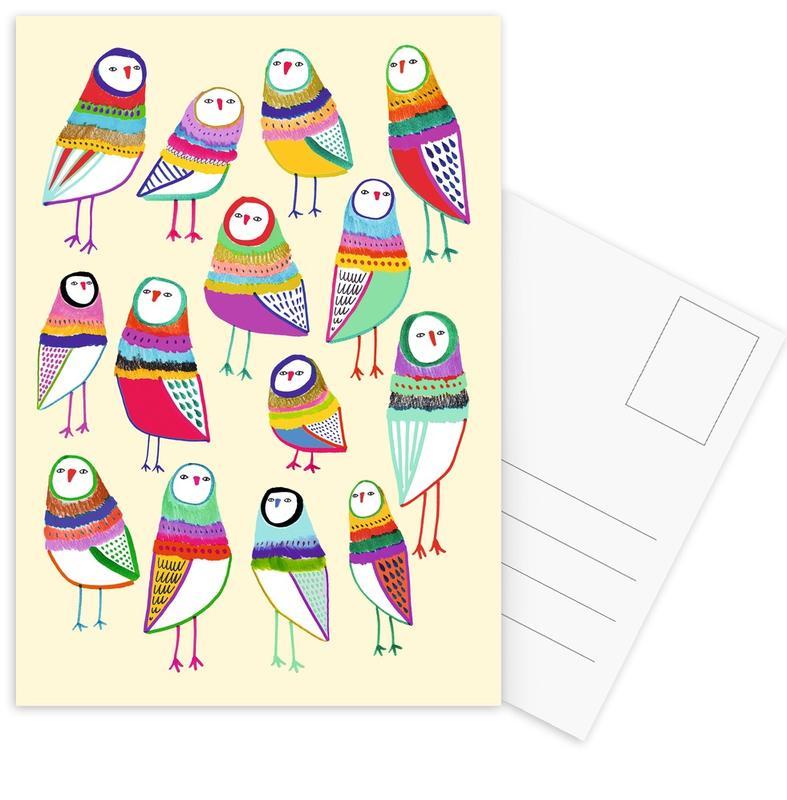 Chouettes, Art pour enfants, Owl Pattern 1 cartes postales