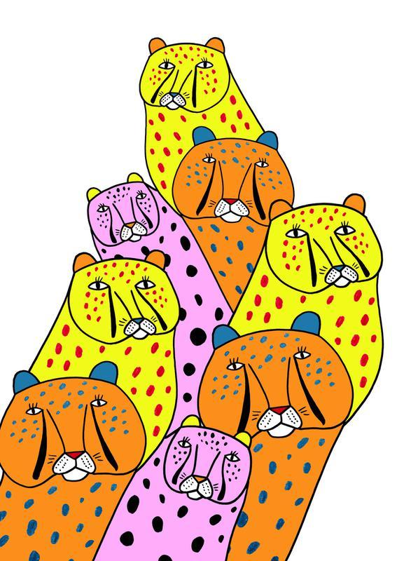 Cheetah Gang Canvas Print