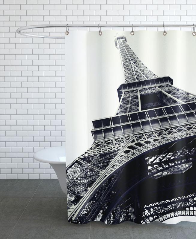 Noir & blanc, Paris, Monuments et vues, Tour Eiffel rideau de douche