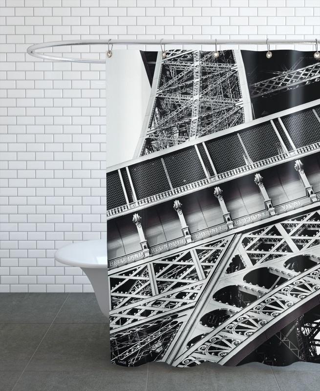 Noir & blanc, Paris, Monuments et vues, Gustave Eiffel rideau de douche
