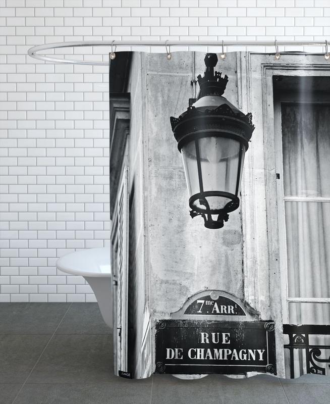 Noir & blanc, Paris, Monuments et vues, Rue de Champagny rideau de douche