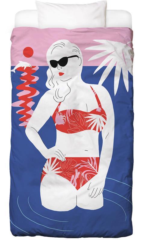 Hot Hot Summer - Lady and Dolphin Bettwäsche