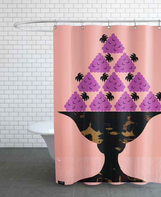 Blackberry -Duschvorhang