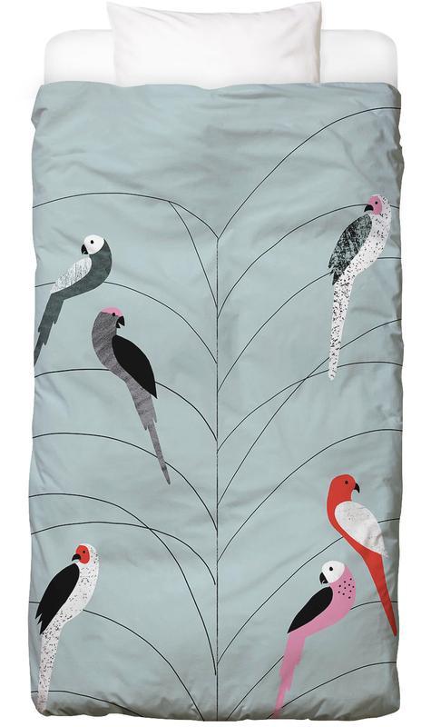Tropicana - Birds on Branch Grey Bed Linen