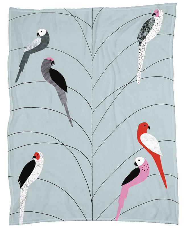 Tropicana - Birds on Branch Grey plaid