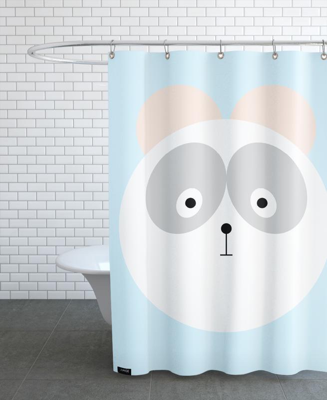 Bears, Nursery & Art for Kids, Elton the Panda Shower Curtain