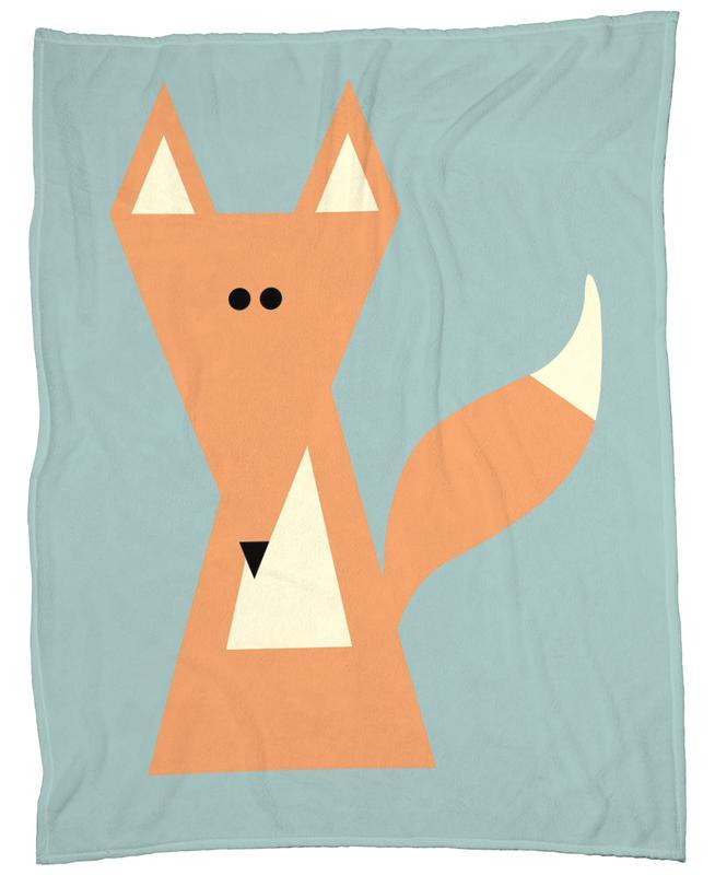 Ray the Fox -Fleecedecke