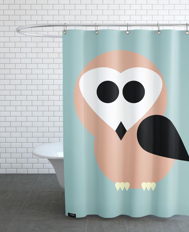 Art pour enfants, Chouettes, Celine the Owl rideau de douche
