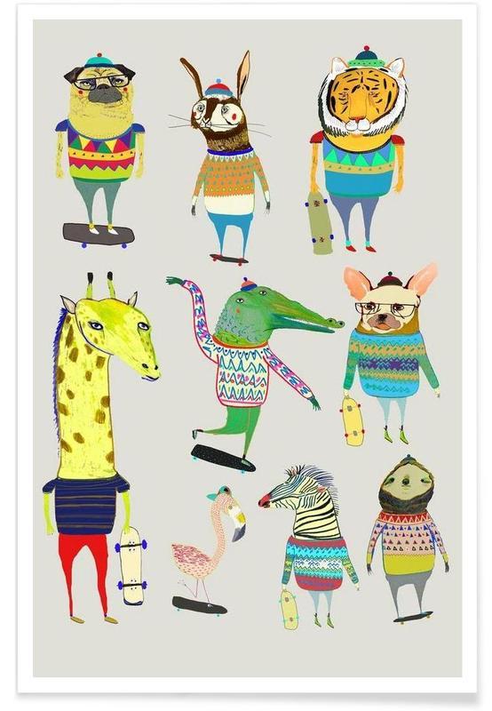 Nursery & Art for Kids, Skaters Poster