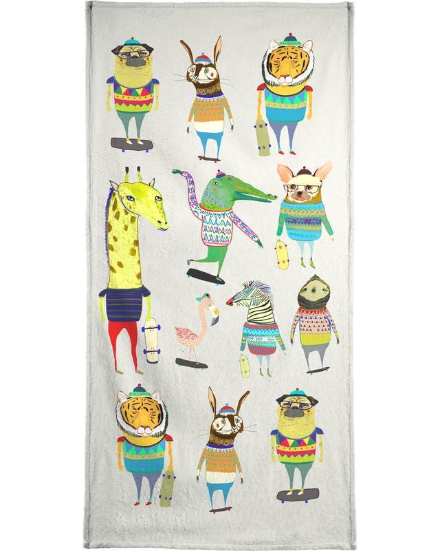 Skaters Beach Towel