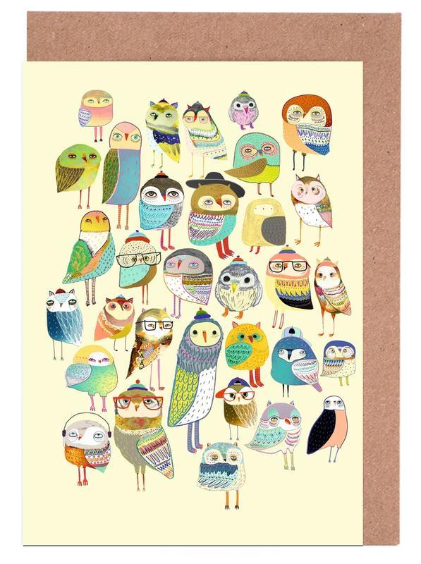 Owl Hundreds -Grußkarten-Set