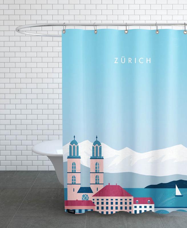 Voyages, Vintage voyage, Zürich rideau de douche