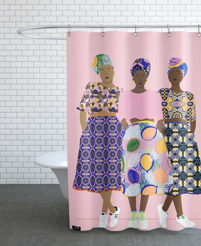 Grlz Band Shower Curtain
