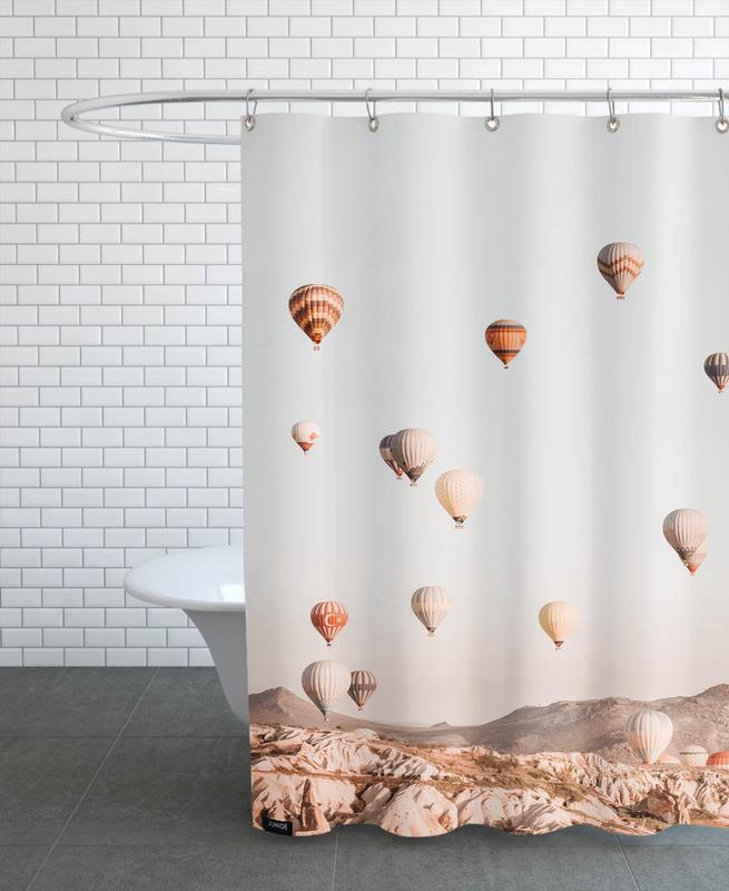 Hot Air Balloons Shower Curtain Juniqe