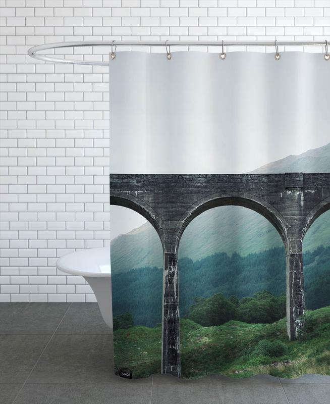 Slate Bridge -Duschvorhang